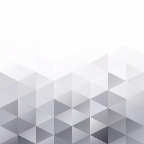 Grijs-wit raster mozaïek achtergrond, creatief ontwerpsjablonen vector