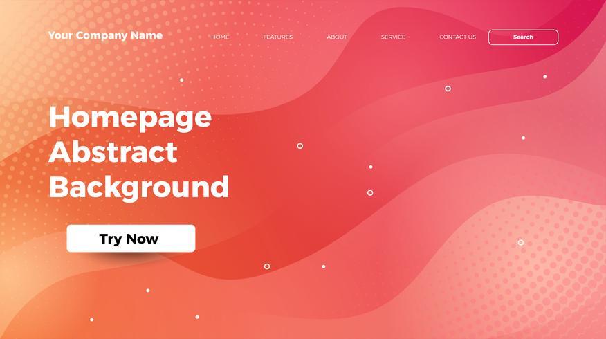 homepage abstracte golf kleurrijke achtergrond vector