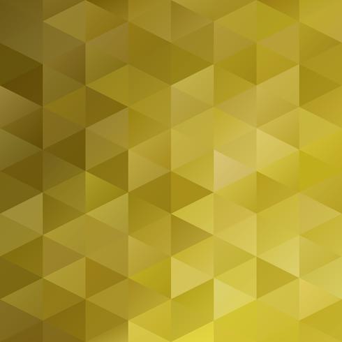 Gele raster mozaïek achtergrond, creatief ontwerpsjablonen vector