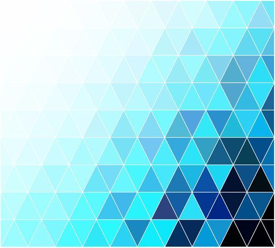 blauwe raster mozaïek achtergrond, creatief ontwerpsjablonen vector