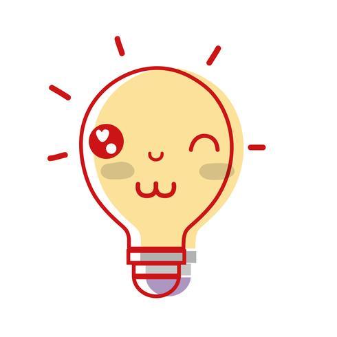 kawaii leuke grappige lamp idee vector