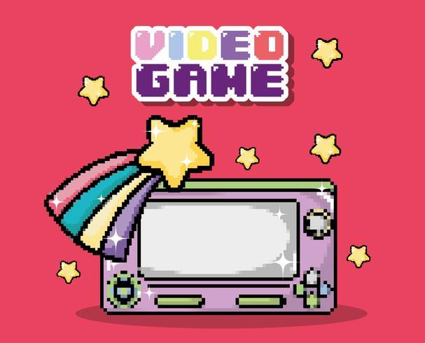 videogame pixel cartoons vector