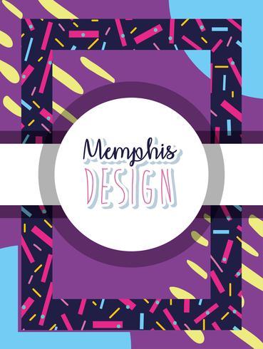 Memphis kleurrijke achtergrondontwerp vector