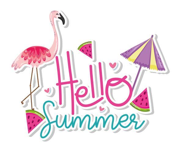 Hallo zomerkaart vector