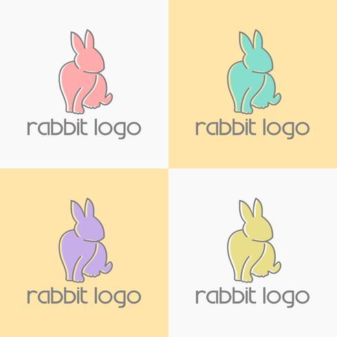 konijn logo ontwerp vector
