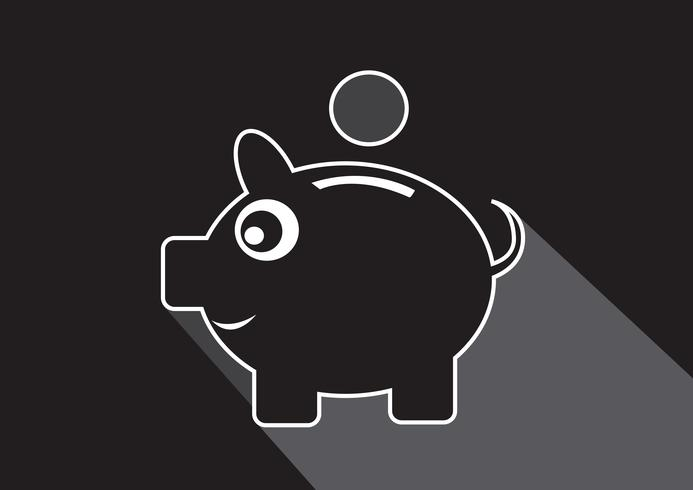 Piggy bank Symbool Teken vector