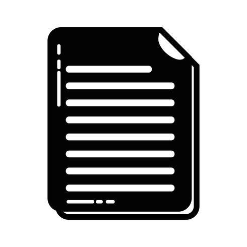 Contour bedrijfsdocumentinformatie tot bedrijfsinformatie vector