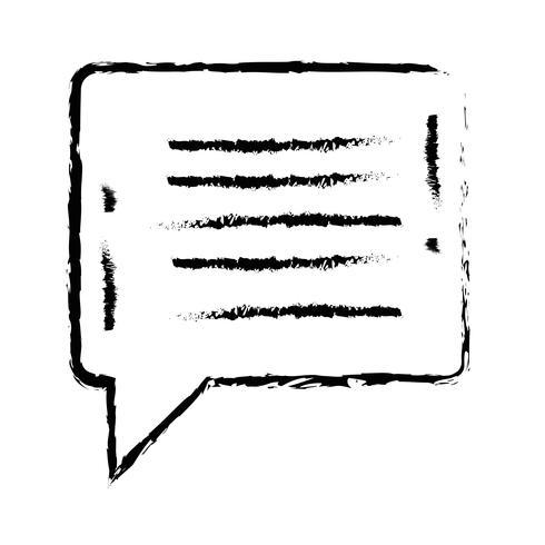 figuur praatjebel notities tekstbericht vector