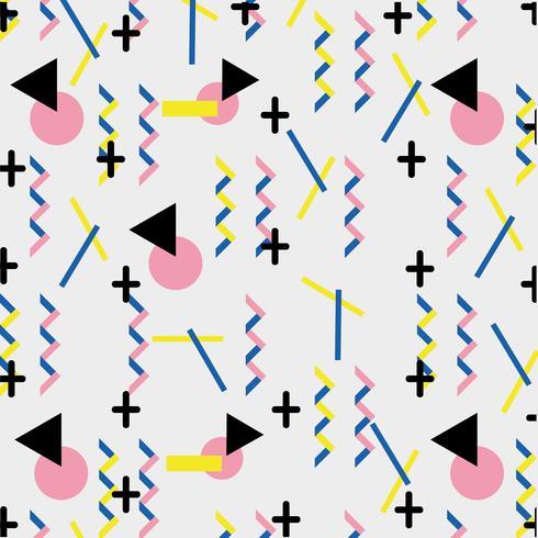 geometrische kleur cijfers memphis stijl achtergrond vector