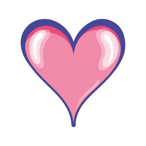 schattig hartsymbool van passie en liefde vector