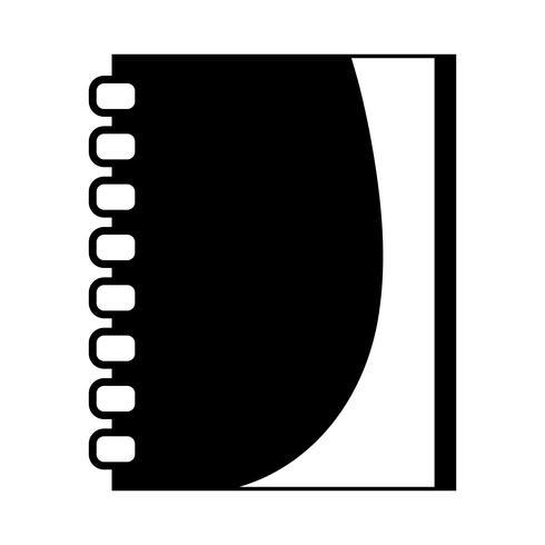 contour notebookpapier object ontwerp om te schrijven vector
