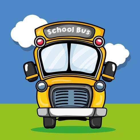 schoolbus vervoer ontwerp naar student vector