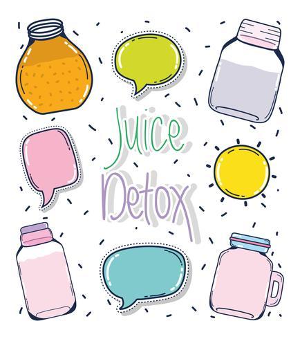 Vruchtensap detox vector