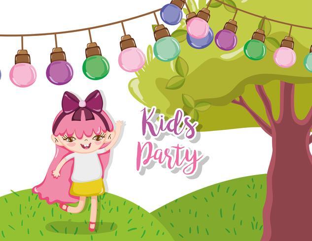 Kinderfeest cartoons vector
