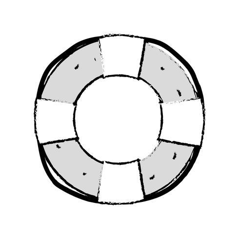 figuur leven boei object voor veiligheids-emergency vector