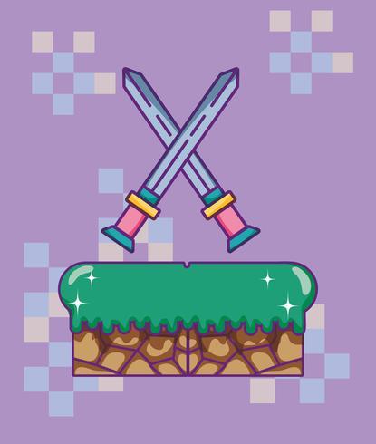 Pixelated retro videogameachtergrond vector