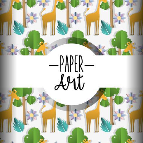 Papier kunst achtergrond vector