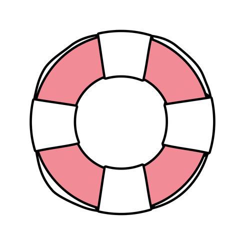reddingsboei object voor veiligheidsnoodsituatie vector