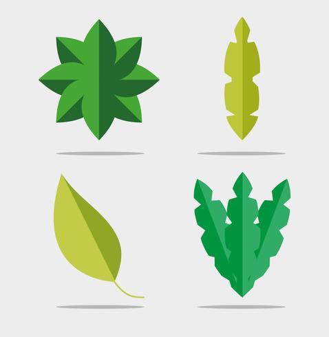 Set van bladeren vector