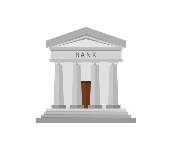 Bank pictogram op een witte achtergrond vector