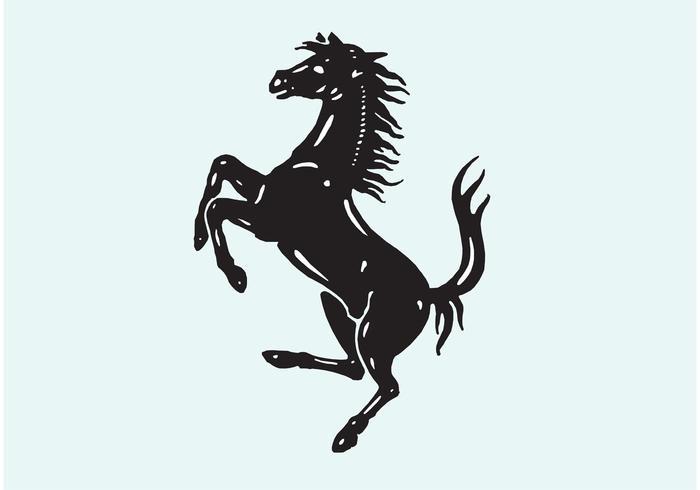 Ferrari paard logo vector