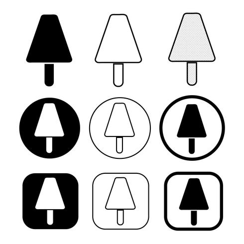set van eenvoudige ijs pictogram vector