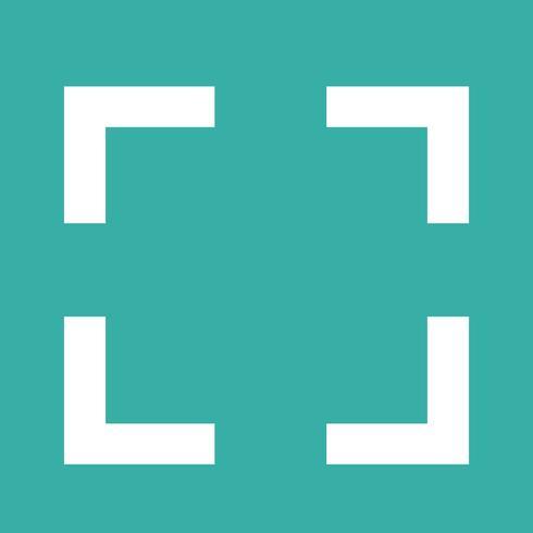 Focus pictogram teken illustratie vector