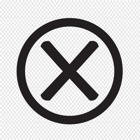 Verkeerd markeerpictogram vector
