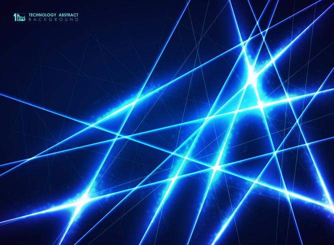 Abstracte blauwe technologielijn van energieontwerppatroon voor grote gegevensachtergrond. U kunt gebruiken voor futuristisch ontwerp, advertentie, poster, kunstwerk, jaarverslag. vector