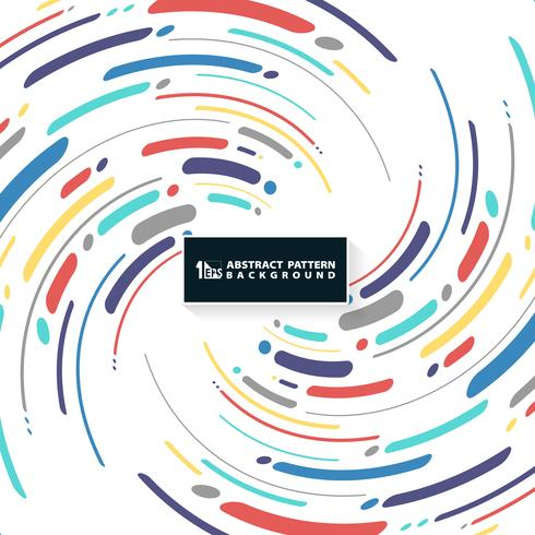 Abstracte kleurrijke streeplijn van de dekkingsachtergrond van het wervelingspatroon. U kunt gebruiken voor nieuwe omslagontwerp, advertentie, poster, afdrukken, boekje. vector
