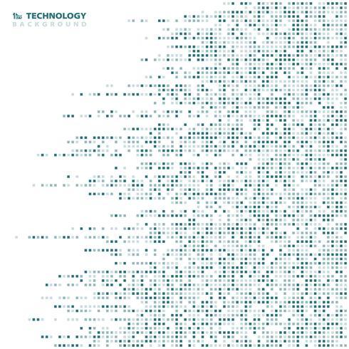 De abstracte geometrische achtergrond van de achtergrond blauwe vierkante patroontechnologie. U kunt gebruiken voor moderne high-tech advertentie, poster, cover artwork, jaarverslag. vector