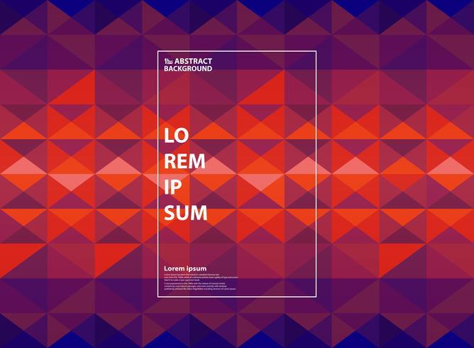 Abstracte paarse en oranje geometrische gradiëntachtergrond. U kunt gebruiken voor kleurenillustraties, modern design, jaarverslag, boek. vector