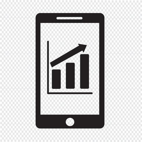 mobiele telefoon grafiek infographics pictogram vector