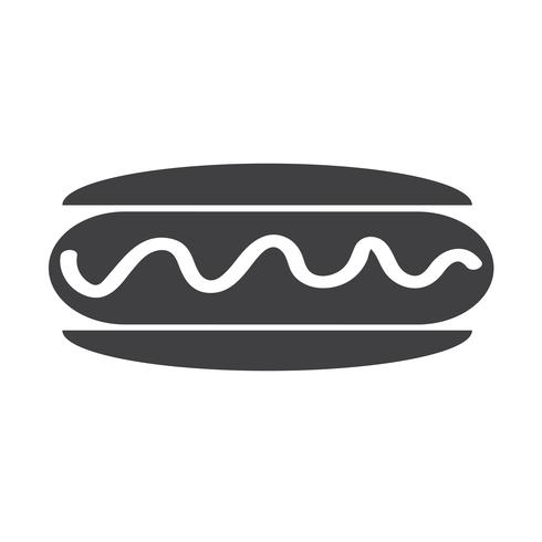 worst hotdog pictogram vector