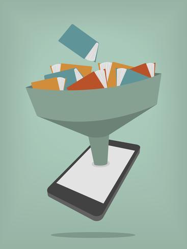 De bibliotheek in het e-boek vector
