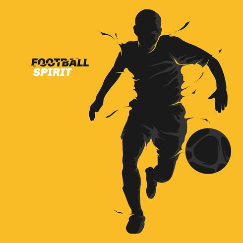 voetbal splash geest vector