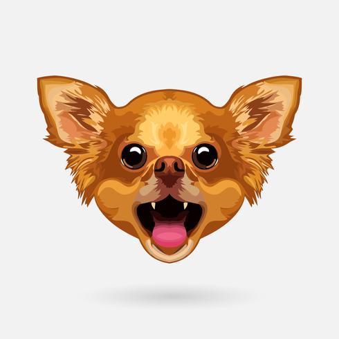 Chihuahua hondenhoofd vector