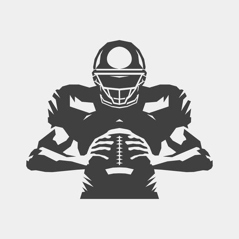 American football-speler vector