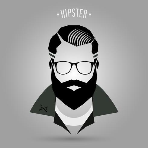 Hipster herenstijl 02 vector