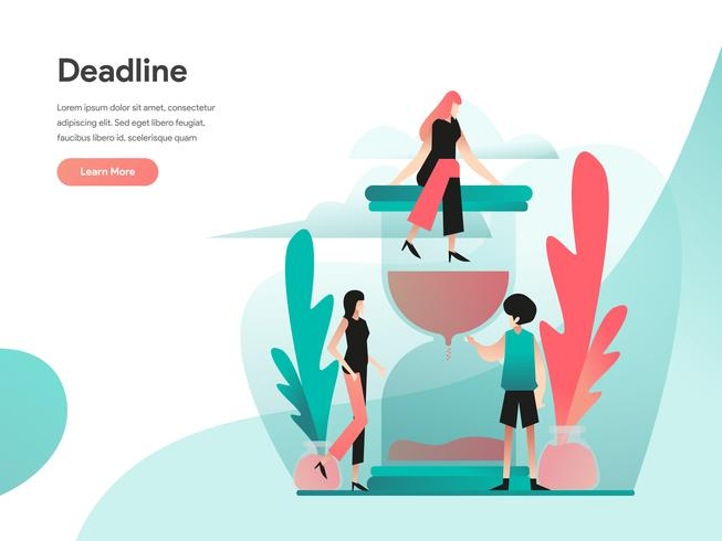 Deadline Illustratie Concept. Modern vlak ontwerpconcept Web-paginaontwerp voor website en mobiele website Vector illustratie Eps 10