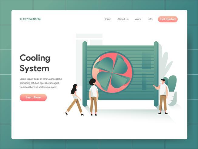 Koelsysteem Illustratie Concept. Modern ontwerpconcept Web-paginaontwerp voor website en mobiele website Vector illustratie Eps 10