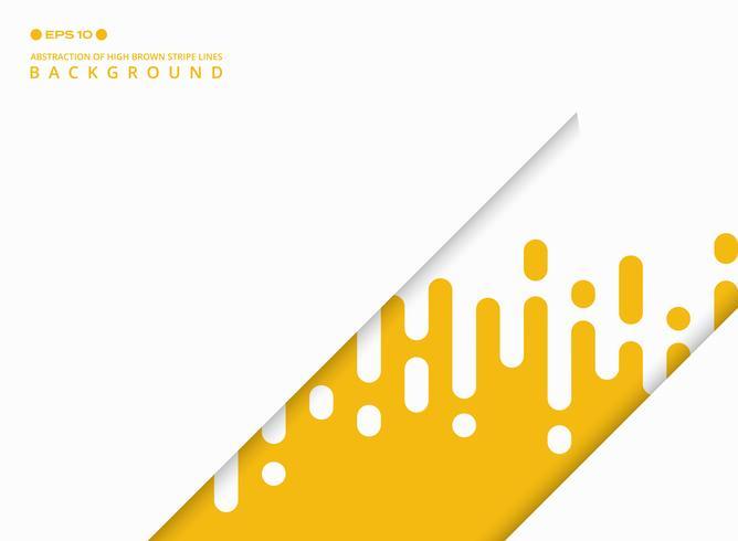 Samenvatting van gele kleur streep lijnen patroon achtergrond met vrije kopie ruimte aan de linkerkant. vector
