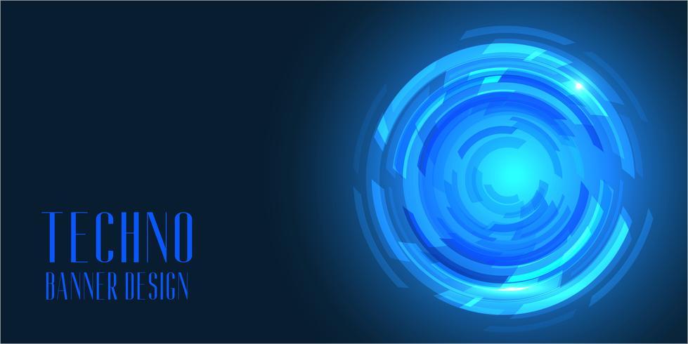 Techno-stijl bannerontwerp vector