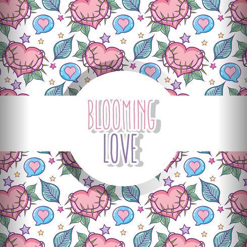 Liefde en harten patroon achtergrond vector