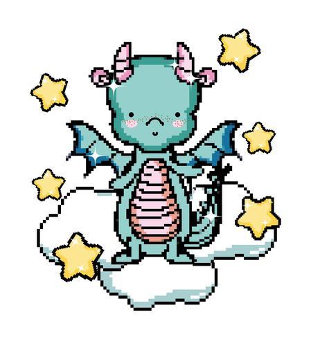 Pixel art videogame karakter vector