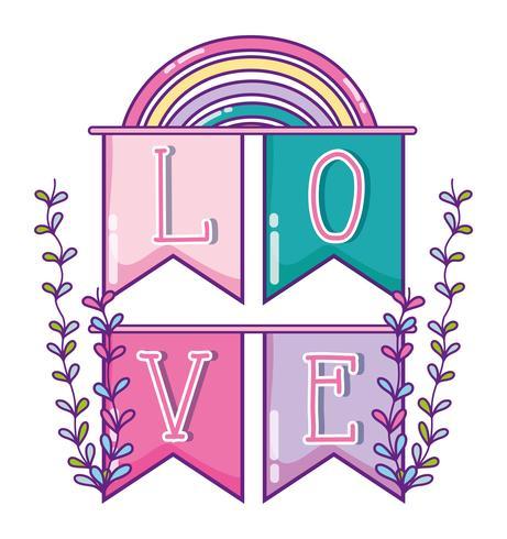 Leuke liefdesbeeldverhalen vector