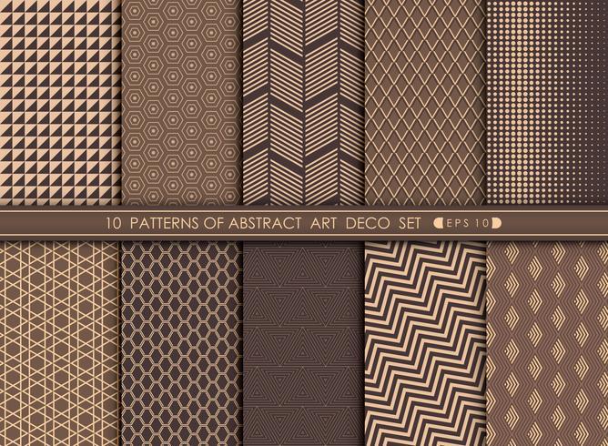 Abstracte art deco patroon vastgestelde achtergrond. vector