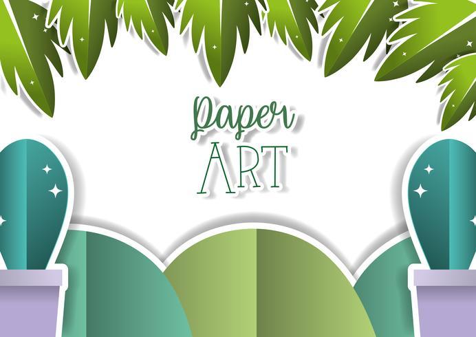 Papierkunst landschap vector