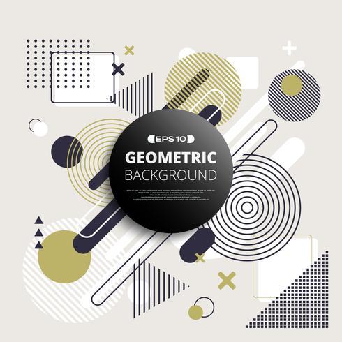Samenvatting van geometrische patroonachtergrond met ruimte in centrum. vector