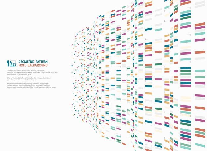 Abstract modern kleurrijk vierkant geometrisch patroonontwerp van decoratie van het technologie de golvende netwerk. illustratie vector eps10